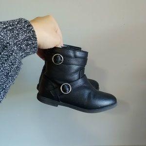 Crazy8 black Moto boots
